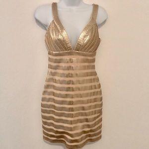 Bebe V-neck Sequin dress